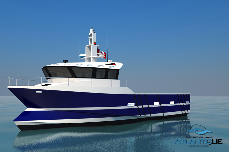 Composite fishing boat atlantic boat builders for Fishing boat manufacturers